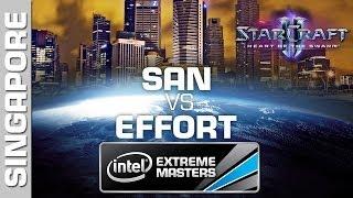 San vs. EffOrt - Quarterfinal - IEM Singapore - StarCraft 2