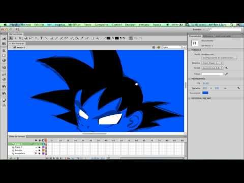 Curso De Animación Digital En Flash CS6 - 08.1 - Como hacer un personaje animable (Goku)