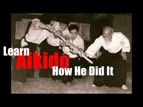 Aikido Jo trick explained, mental suggestion. Image 1