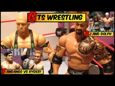 GTS WRESTLING: CRAPDOWN! Event Mattel elites figures matches WWE parody animation stop motion