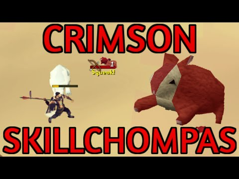 Crimson Skillchompas Guide: 230K Hunter XP and 1.5M/Hour Moneymaking [Runescape 2014]