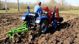 Foton ft254 first time ploughing