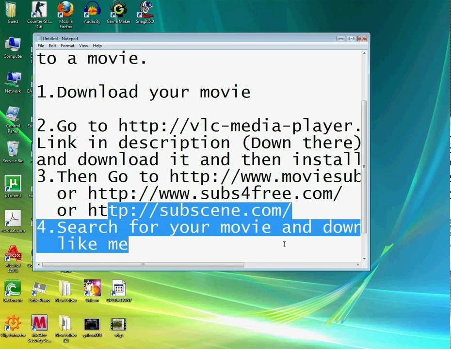 how to add subtitles to a downloaded movie