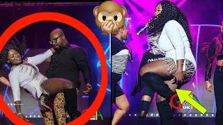OMG - Sista Afia Shows Her Thing To Gasmilla On Stage At The Ghana Music Awards UK 2018