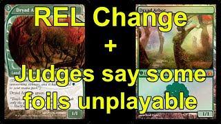 Dryad Arbor Rules Change + New Foil Ruling + REL Rules Change in Competitive MTG