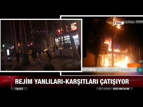 Rejim yanlıları - karşıtları çatışıyor - 2 Ocak 2018
