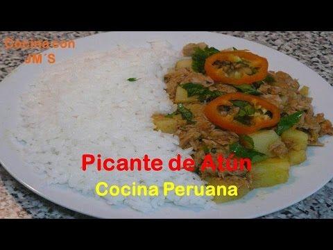 PICANTE DE ATUN - RECETAS -  COCINA PERUANA