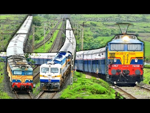 INTERCITY Trains   MUMBAI - PUNE   BHOR Ghats   Indian Railways thumbnail