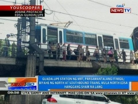 NTG: Guadalupe station ng MRT, pansamantalang itinigil