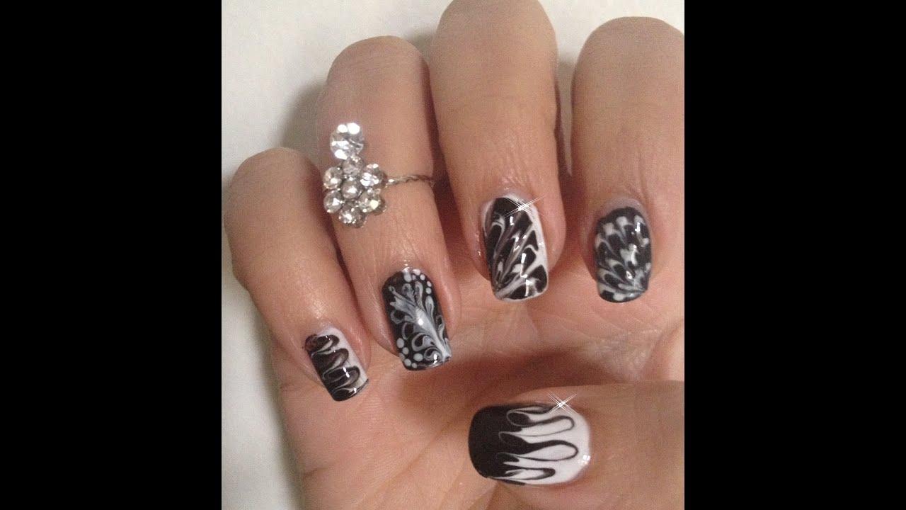 Nail Art Noir et Blanc Super