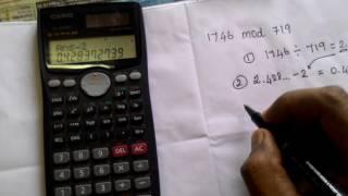 Mod calculation using casio - fx991 MS