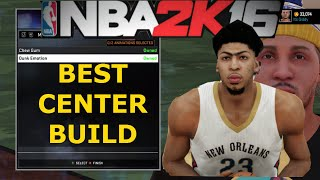 Nba 2k16 tutorial- How to make the best outside CENTER possible!