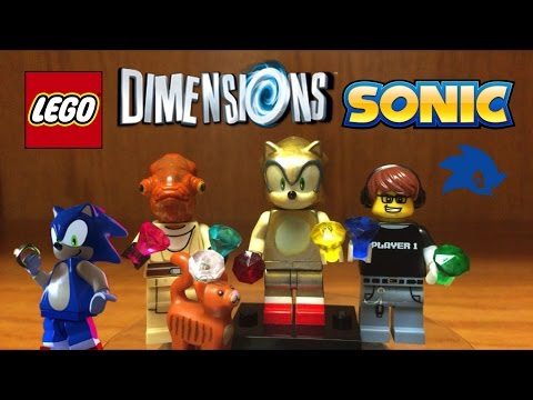LEGO Dimensions How To Make SUPER SONIC Minifigure + Review and Adventure