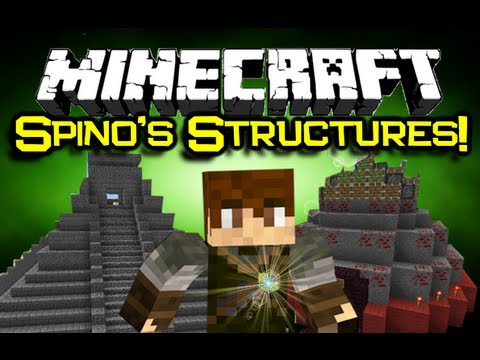Minecraft:SPINOS EPIC STRUCTURES MOD Spotlight Lets Explore Minecraft Mod Showcase