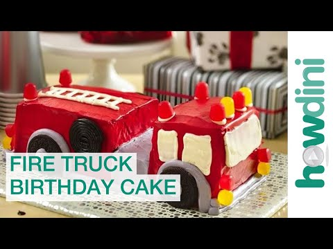 Fire truck birthday cake decorating ideas &#8211; How to make a cake