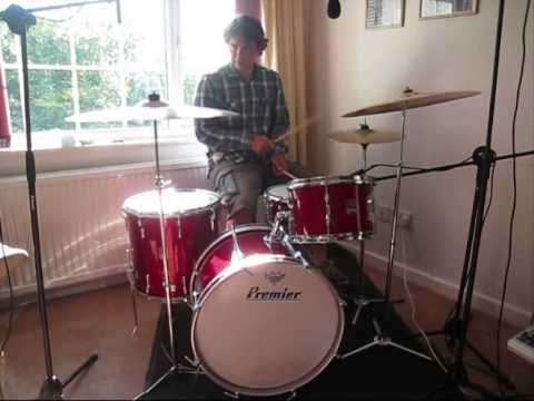 1950 60s Premier Drum Kit Red Glass Glitter 20 12 16 14x5