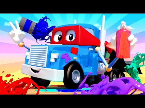 Граффити Грузовик - Трансформер Карл в Автомобильный Город 🚚 ⍟ детский мультфильм