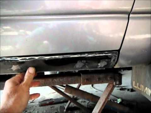 Lumina Rocker Panel Rust Repair Wmv Youtube