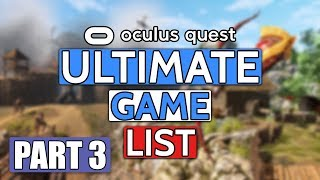 Upcoming Oculus Quest Games ULTIMATE List Part 3