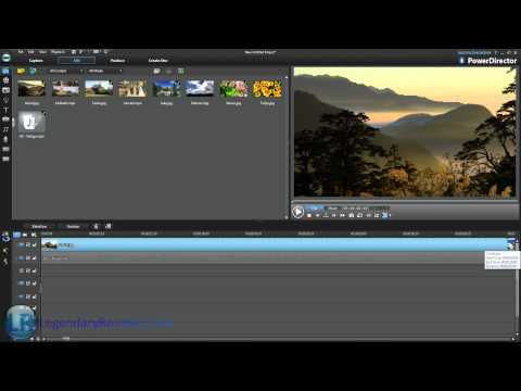 CyberLink PowerDirector 10 Tutorial -  Audio & Watermarks