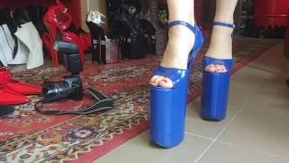 Heel 30cm platform 20cm patent leather size 37- 47