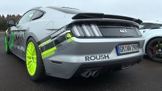 Ford Mustang GT Roush Performance Stage 2 - Revs & Drag Racing!