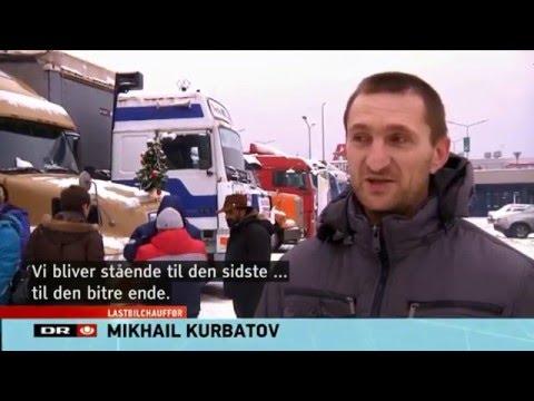25.12.2015 Телеканал Дании DRtv о протесте дальнобойщиков