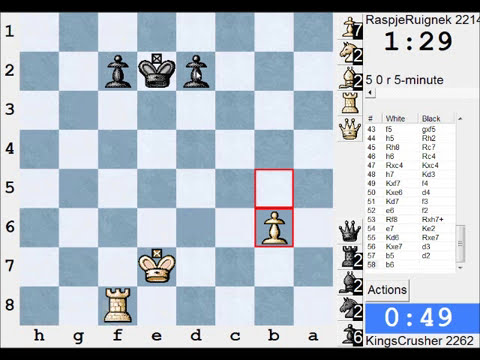 LIVE Blitz (Speed) Chess Game #1062 vs RaspjeRuignek (2214) - French: advance - Wade (C02)