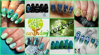 How To - Earth Day Nail Art Stamping Tutorial (Facebook Collab)✓