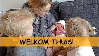 LUXY'S EERSTE DAG THUiS 🍼👶🏡💖 ( kraamweek dag 1)   Bellinga Familie Vlog #910