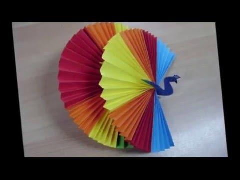 Как сделать павлина из цветной бумаги своими руками 58