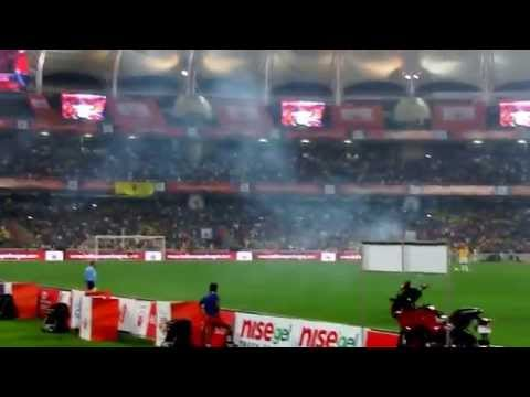 Final Moment of ISL 2014 Atletico de Kolkata win ISL final with Mohammed Rafique's Goal with Header