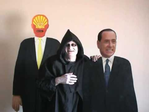 Silvio Berlusconi meets Mr Grim Reaper from the European Round Table of Industrialists