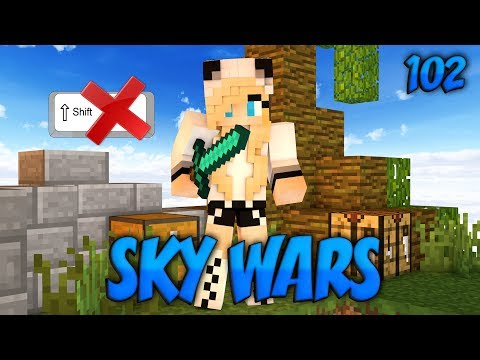 Minecraft Sky Wars #102|БЕЗ ШИФТА ЧЕЛЛЕНДЖ!(LiteCloud)