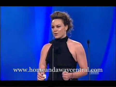 Amy Mathews wins Most Popular Female Talent at Logies 2007
