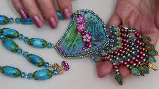 Step By Step Shibori Necklace with fringe