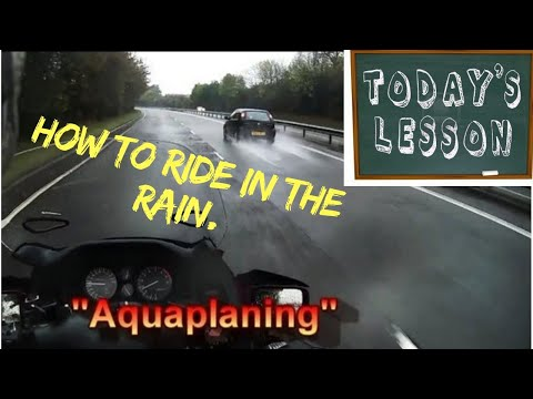Riding tips - how to ride a motorcycle in the rain or on wet roads.