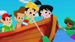 chèo chèo chèo thuyền của bạn | bài thơ bé | Row Row Row Your Boat | Kids And Baby Rhymes
