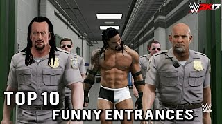 "WWE 2K17 - Top 10 Craziest Funny Entrances ""GIMMICK SWAP"" Undertaker, Reigns & More! (PS4 & XB1)"