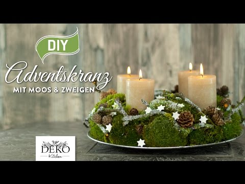DIY: Adventskranz aus Naturmaterial mit Moos & Zweigen [How to] Deko Kitchen