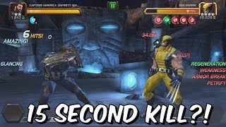 2 Star Captain America Infinity War VS Realm Of Legends Wolverine - Marvel Contest Of Champions