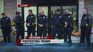 Protesters stage sit-in at Trump's Janesville hotel, several arrested
