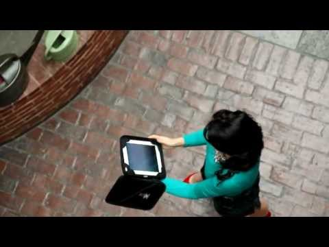iPad survives 3rd story drop from balcony: G-Form Extreme Portfolio case