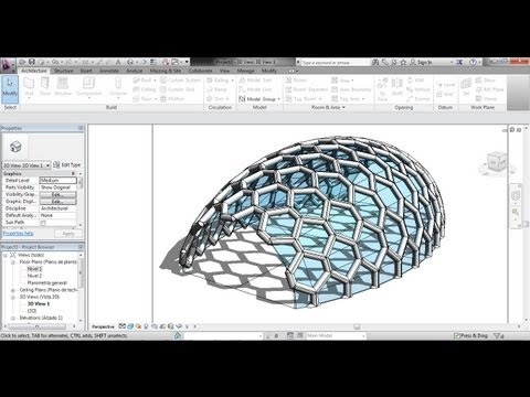 Superficie con patrón (masa) Revit