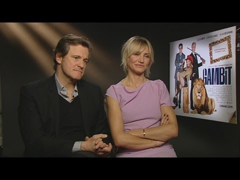 Gambit: Colin Firth and Cameron Diaz talk nudeness and lassoing
