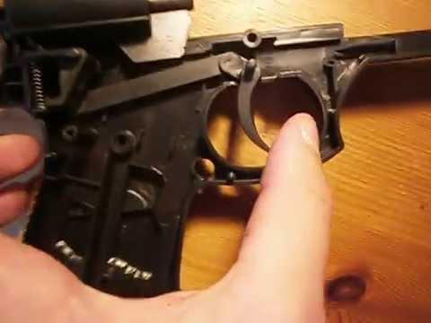 comment reparer la gachette d'un pistolet a bille
