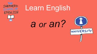 Learn English: a or an? which one?