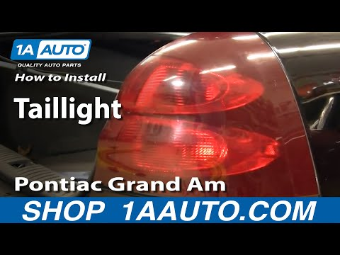 How To Install Replace Taillight Pontiac Grand Prix 04-08 1AAuto.com