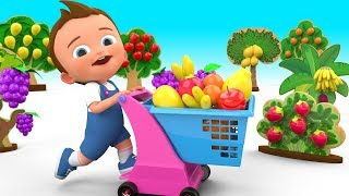 Learn Fruits Names Colors with Baby Fun Play Riding Scooter Toy 3D Kids Toddler Learning Educational