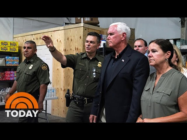 Vice President Mike Pence Visits Texas Migrant Detention Center  TODAY